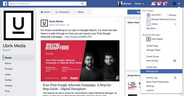 goto Facebook Ads Manager
