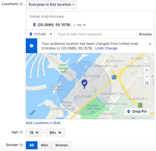 Facebook-location-targeting