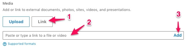 add video to your linkedin summary