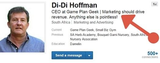 Linkedin headline example career growth